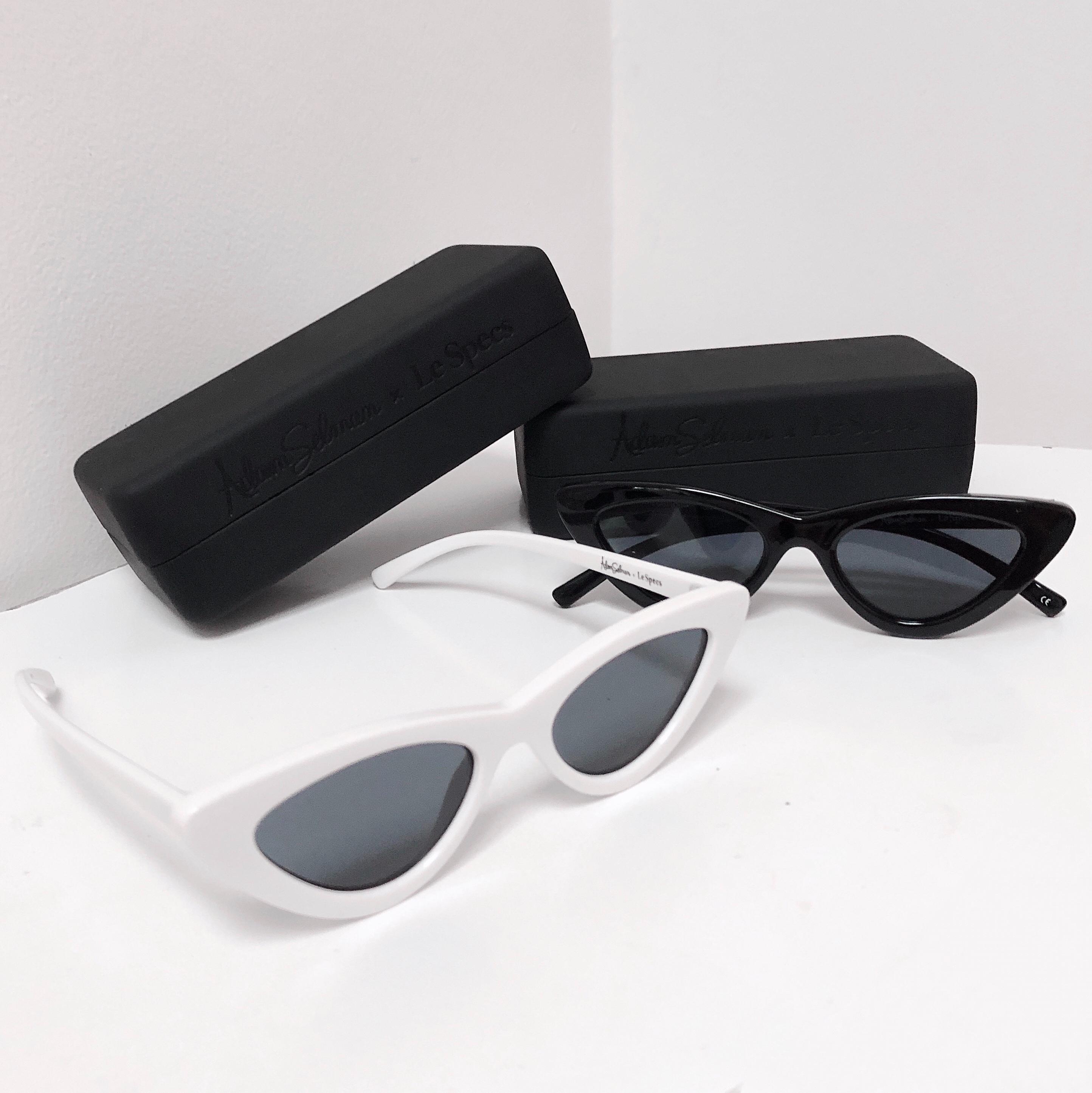 Le Specs - Adam Selman - Fashion - Black and White - Cat-Eye Sunglasses