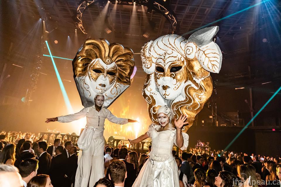 artistes de cirque -  Let's Bond 2018 - Venezia Extravaganza - benefit - gala - évènement bénéfice