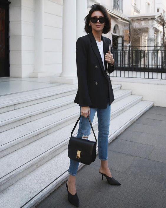 Black blazer - veston noir