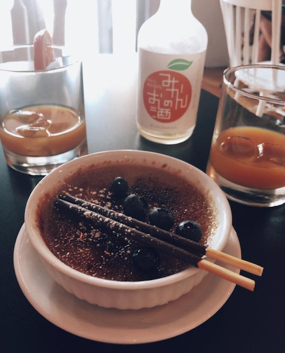 Restaurant Nozy - Quartiers du Canal - Cuisine japonaise - Japanese cuisine -crème brûlée thé vert